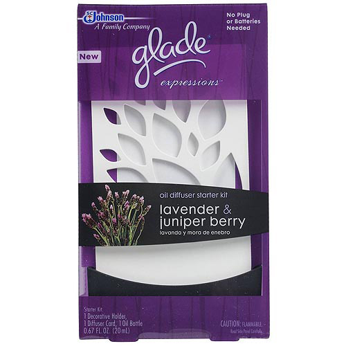 Glade Expressions Oil Diffuser Starter, Lavender & Juniper Berry