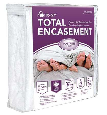 JT Eaton 81QUENC Lock-Up Total Encasement Bed Bug Protection for Mattress, Queen