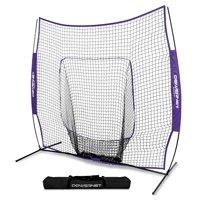 42f2ec262 Product Image PowerNet Baseball Softball 7x7 Practice Hitting Net w/ bow  frame - TEAM COLORS