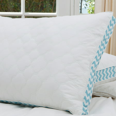 """Image of Cottage Style Home Printed 2"""" Gusset Quilted Pillow, Jumbo"""