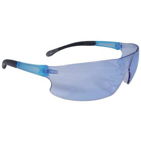 Radians Light Blue Safety Glasses, Scratch-Resistant, Wraparound, RS1-B