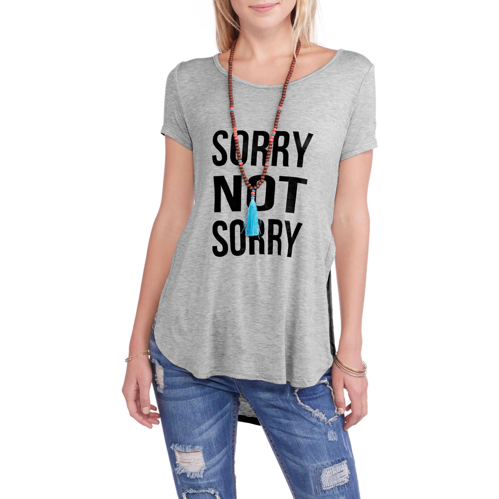 Women's 'be-you-tiful' Scoopneck Hi-Lo Graphic T-Shirt