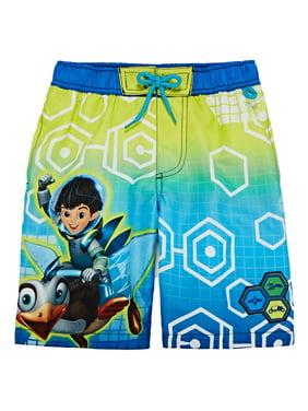 Disney Boys Miles From Tomorrowland Swim Trunks Board Shorts 4