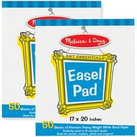 """Melissa & Doug Easel Pad, 17 x 20"""", 50 Sheets, 2pk"""