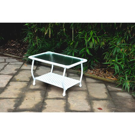 Mainstays wicker coffee table white deal details brickseek White wicker coffee table