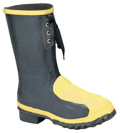 Lacrosse Size 12 Steel Toe Rubber Boots, Men's, Black, 228040