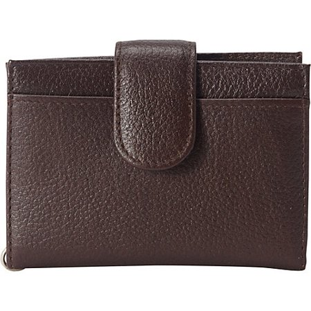 Classic Womens Business Card Case - Women's Leather Key Chain ID Card Case Wallet