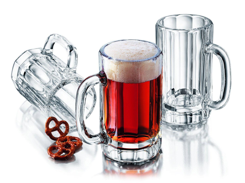 4-Piece Heidelberg Beer Mug Set, Ship from USA, Brand Libbey by