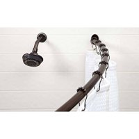 """Bath Bliss curved shower rod in oil-stained bronze (42"""" - 72"""")"""
