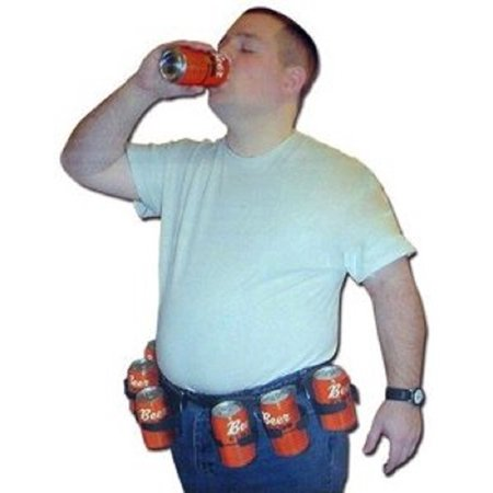 Six Pack Adjustable Beer Soda Pop Cans Bottles Costume Belt (Beer Bottle Costumes)
