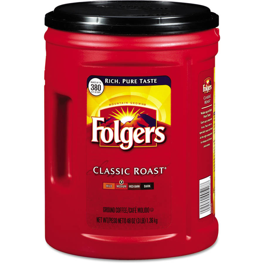 Folgers Classic Medium Roast Coffee, 48 oz
