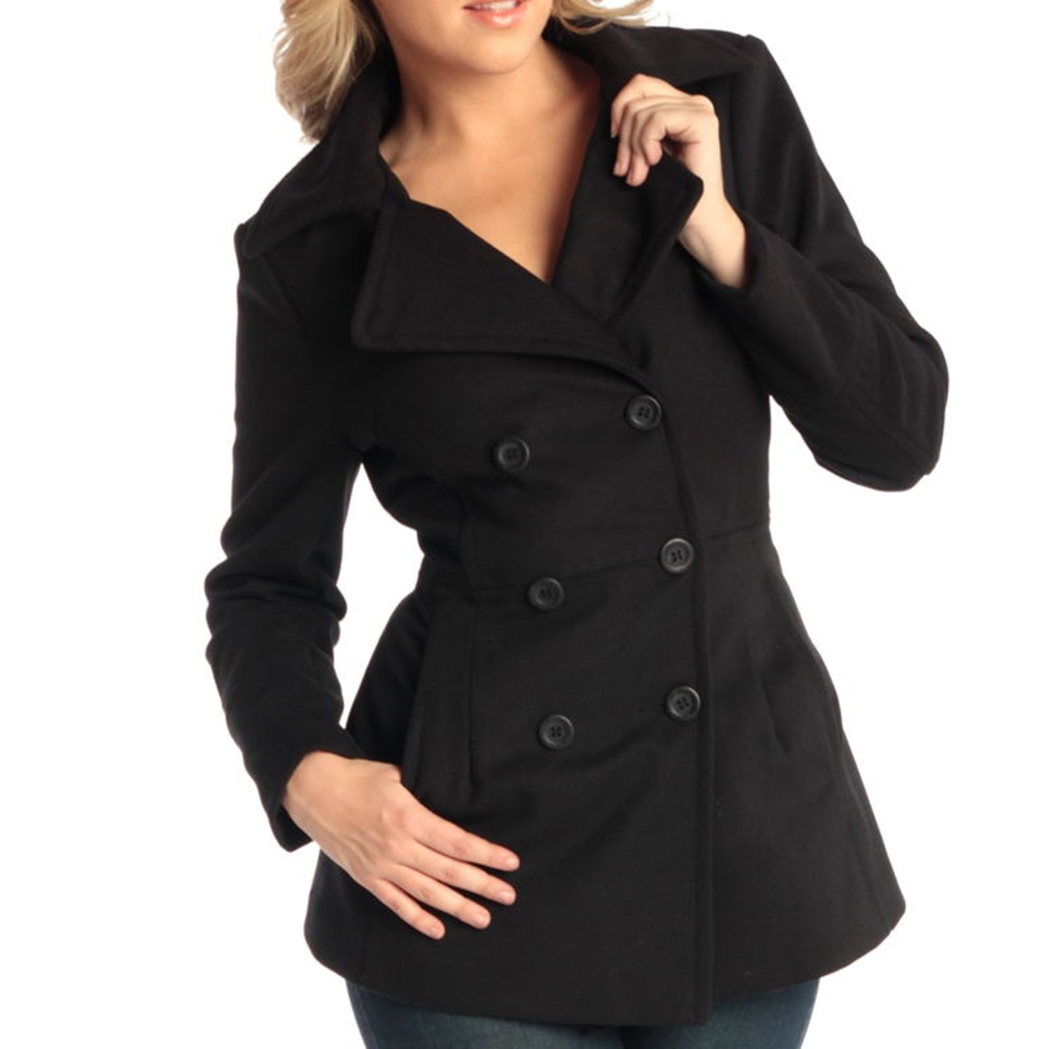 Alpine Swiss Emma Womens Peacoat Jacket Wool Blazer Double ...