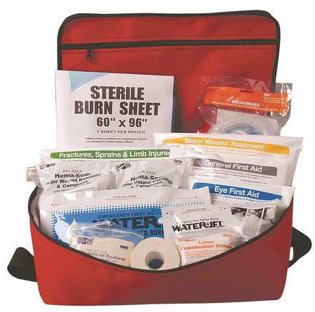 First Aid Kit, Fabric Case, First Response, 15 Person FIRST AID ONLY 3300G