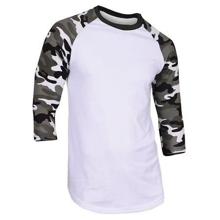 Super Soft Mens 3/4 Sleeve Baseball T Shirt Jersey Fitted (Change Fitted T-shirt)