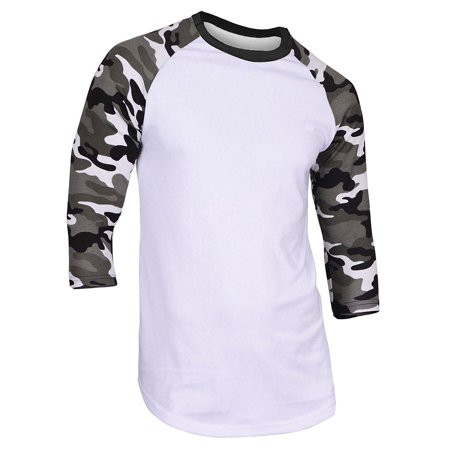 Super Soft Mens 3/4 Sleeve Baseball T Shirt Jersey Fitted Top