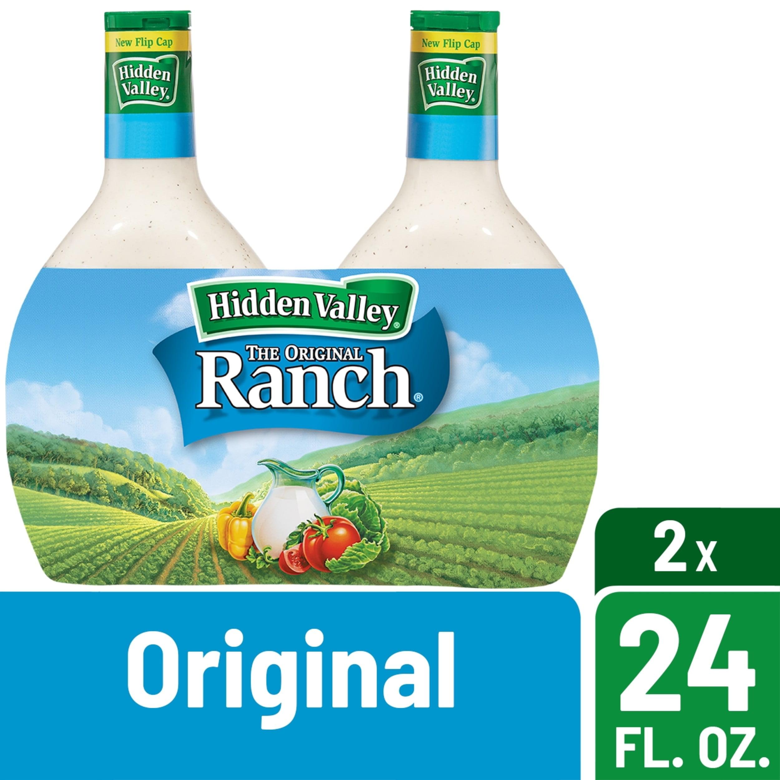 Hidden Valley Original Ranch Salad Dressing & Topping - Gluten Free - 24fl oz/2pk
