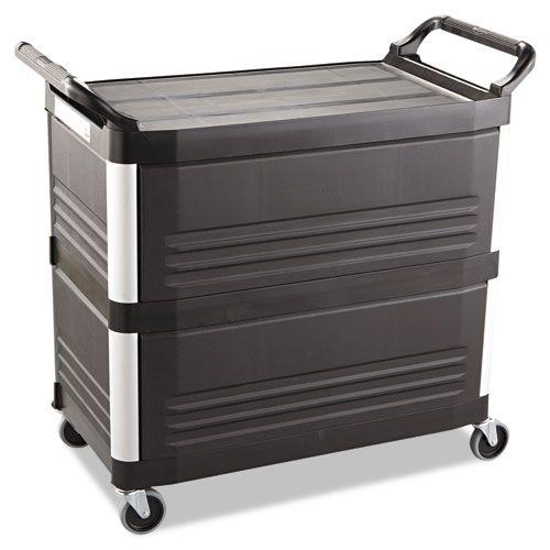 Xtra Utility Cart, 300-lb Cap., 3 Shelves, 20w x 40 5/8d x 37 4/5h, Black