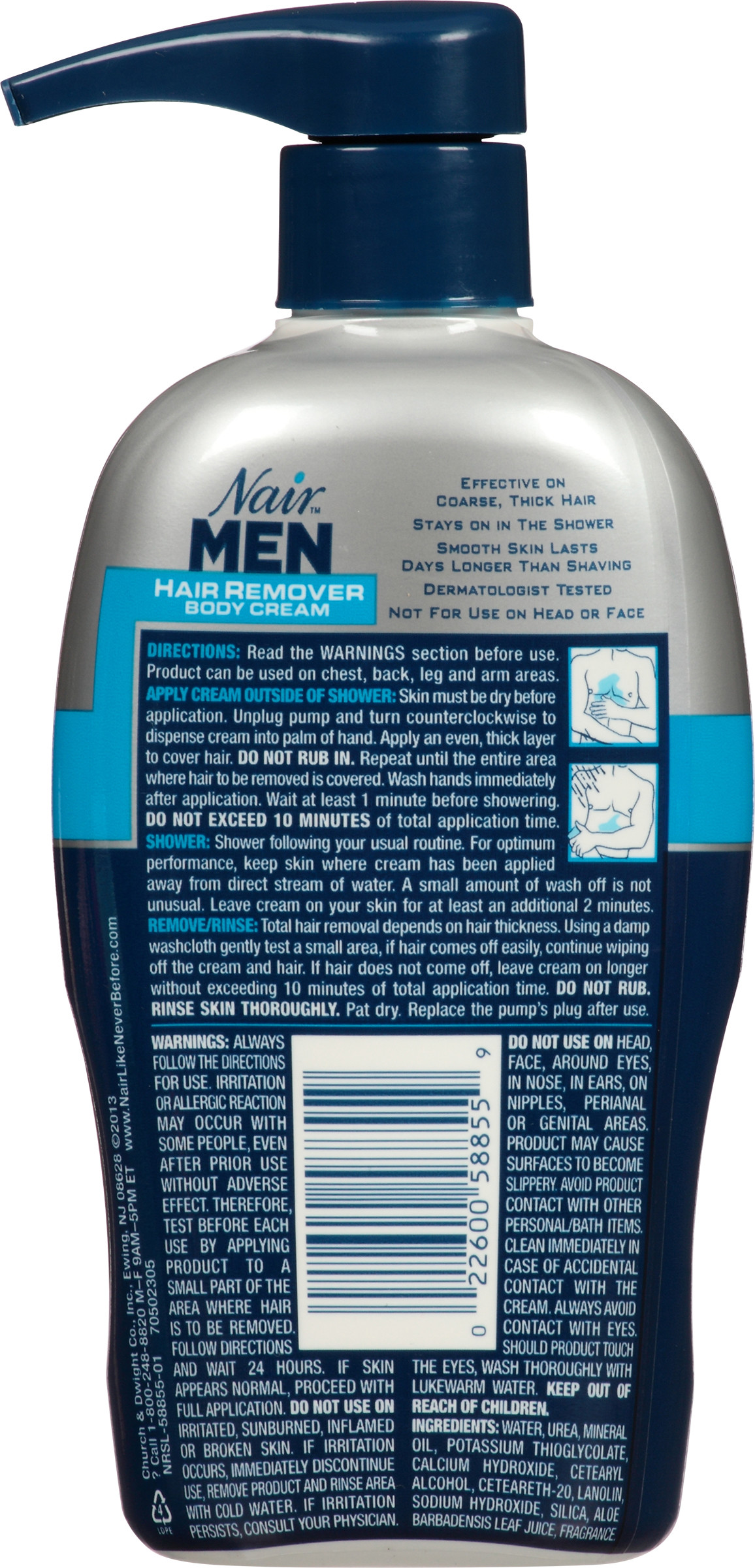 Nair Hair Remover For Men Hair Remover Body Cream 13 Oz Walmart Com Walmart Com