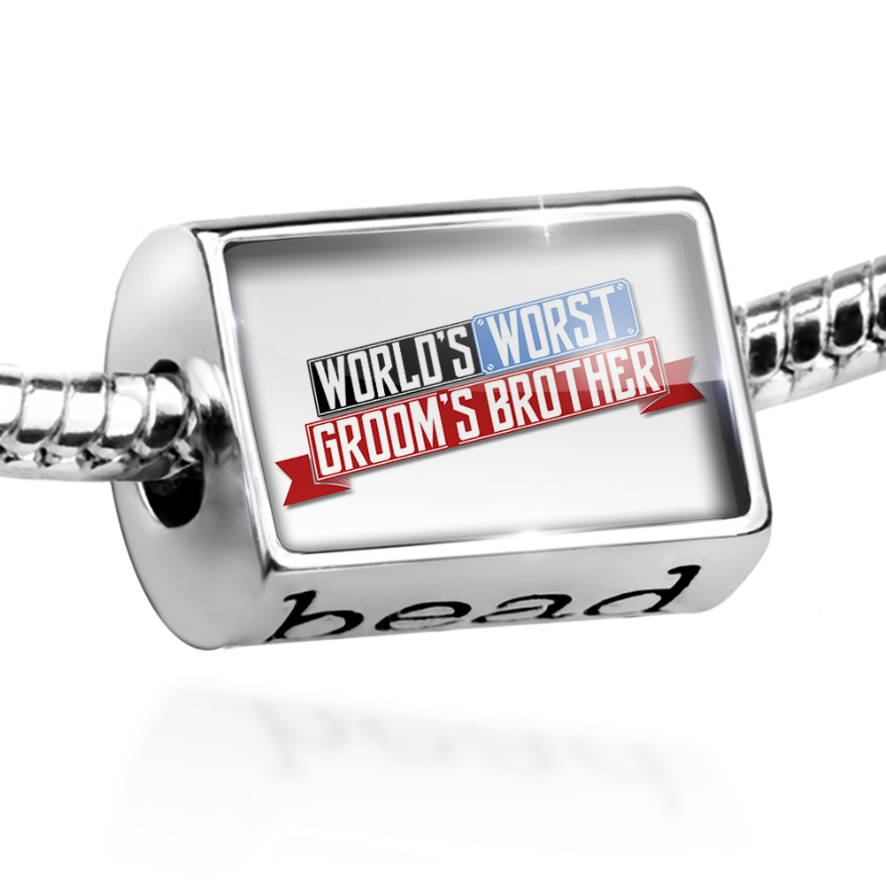 Bead Funny Worlds worst Groom's Brother Charm Fits All European Bracelets