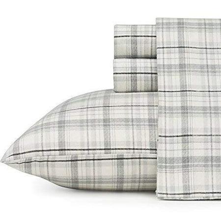 Eddie Bauer 216283 Beacon Hill Flannel Sheet Set, King,