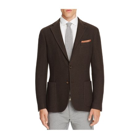 Eleventy Mens Basket Weave Two Button Blazer Jacket darkbrown 50 - image 1 of 1