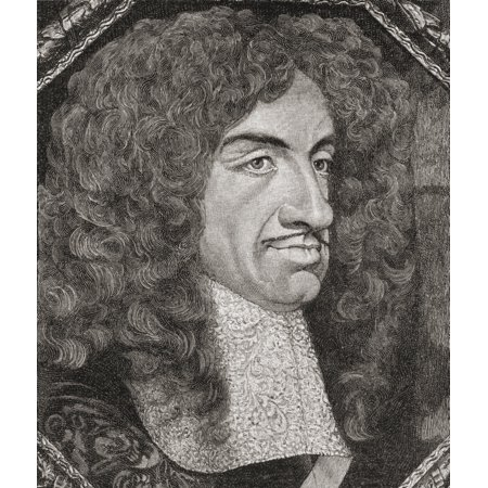 Charles Ii 1630 To 1685 King Of England Scotland And Ireland From The Book Short History Of The English People By JR Green Published London 1893 Canvas Art - Ken (13 English Bronze Foyers)