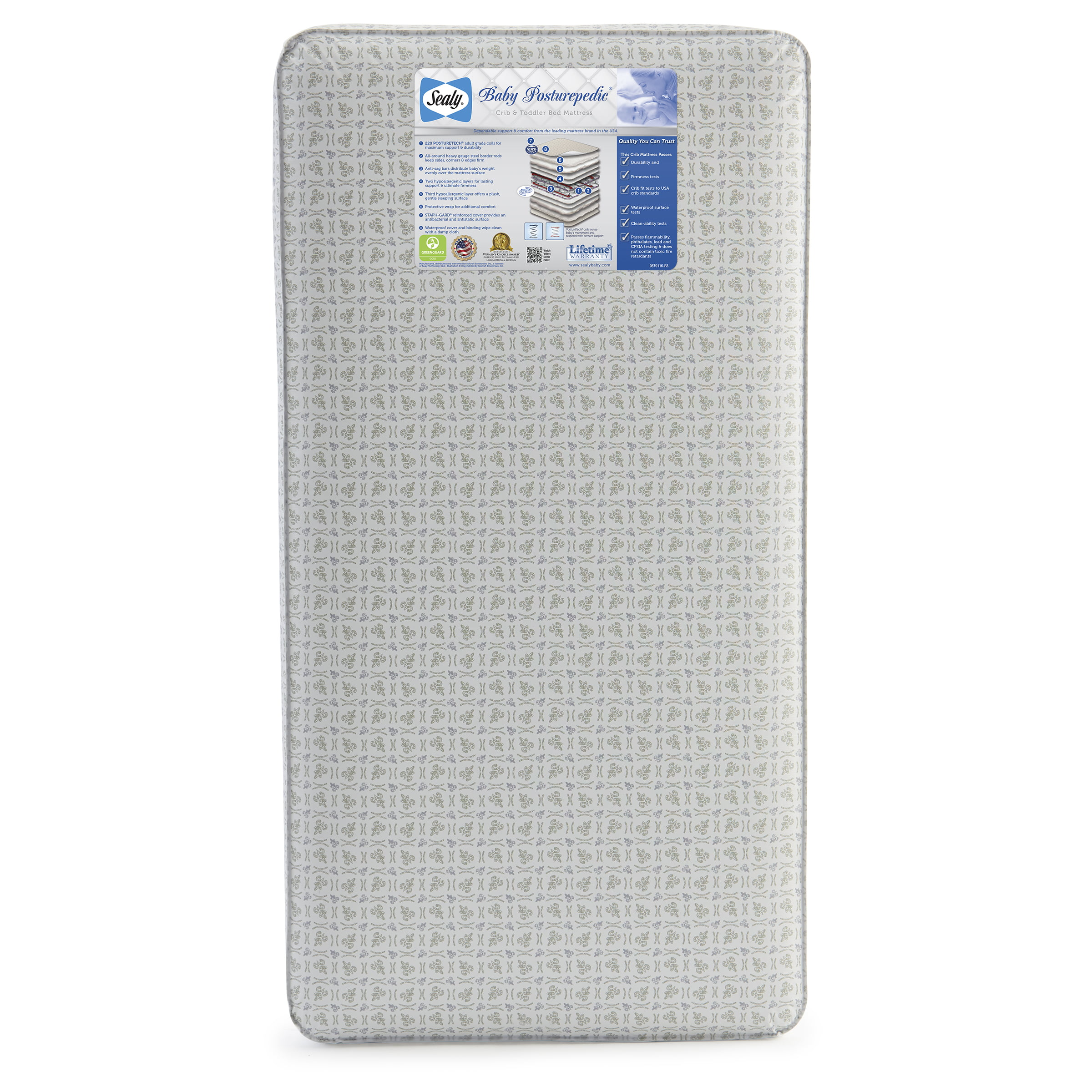sealy baby posturepedic crib mattress walmart com
