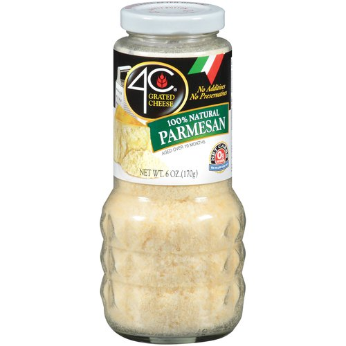 4C 100% Natural Parmesan Cheese, 6 oz