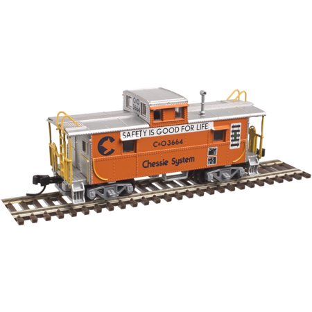 Chessie System - Atlas N Scale C&O-Style Steel Center-Cupola Caboose Chessie System/Safety #3664