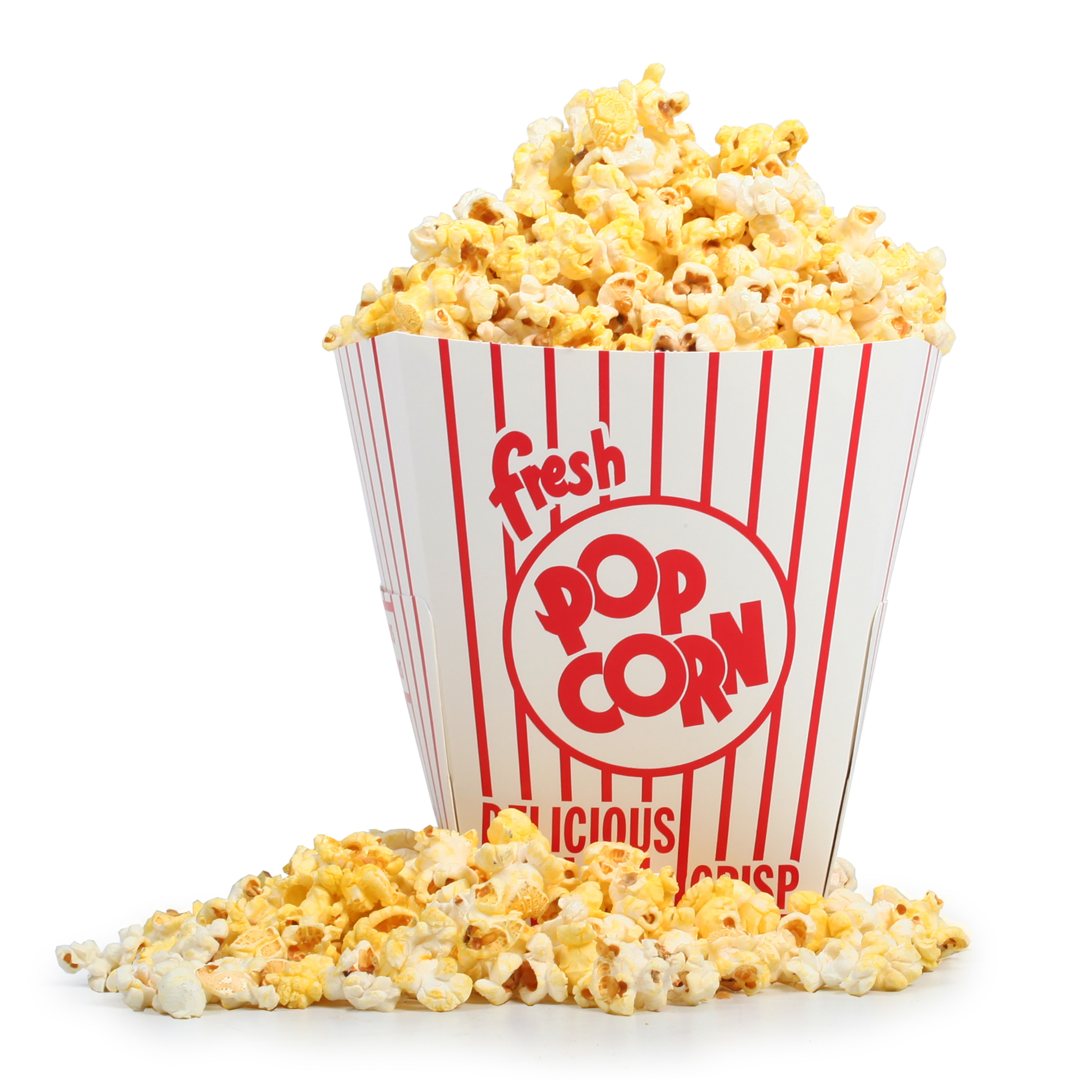 100 Movie Theater Popcorn Buckets 85 oz Open Top by Great Northern Popcorn