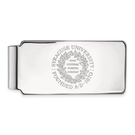 Syracuse Money Clip Crest (Sterling