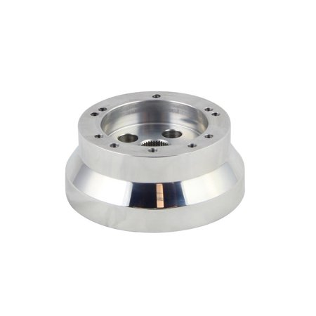 - 5 & 6 Hole Steering Wheel Polished Short Hub Adapter, Ididit, GM, Chevy