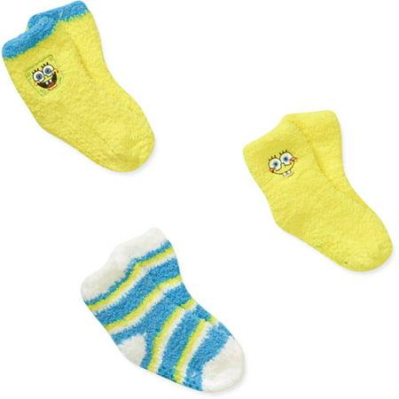 Baby Toddler Boy Socks, 3-Pack - Spongebob Stock