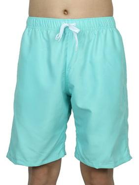 Chetstyle Authorized Adult Men Beach Swimming Shorts Swim Trunks Light Cyan W 30