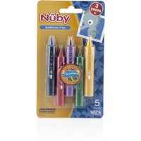 Nuby Roll Up Bath Time Fun Crayons (5 Pieces) Case Pack 72