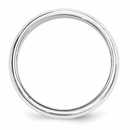 10KW 5mm Milgrain Half Round Band Size 12 Size 12 - image 2 of 5