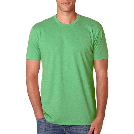Next Level Mens CVC Baby Rib Knit T-Shirt, Apple Green, Small, Style, NL6210