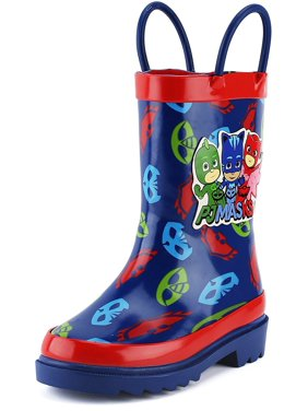 202e944f3 Product Image Disney Little Boys' PJ Masks Character Printed Waterproof  Easy-On Rubber Rain Boots (