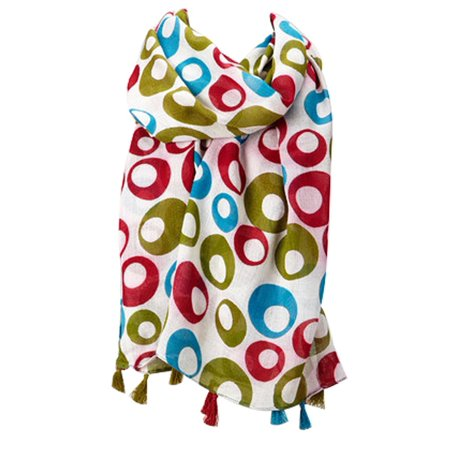 - Fashion Floral Abstract Design Lightweight Spring Summer Scarfs for Women