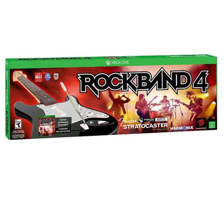 Mad Catz Rock Band 4: Wireless Fender Stratocaster Guitar Bundle (Xbox - Rock Star Band