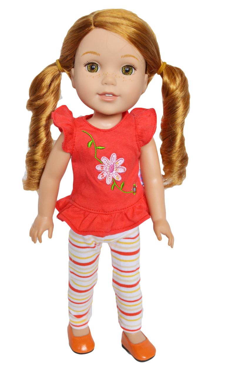 """OFF-WHITE Tights for 14/"""" American Girl Wellie Wishers Doll"""