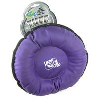 Happy Tails Tuff Dog Toy Purple Disk