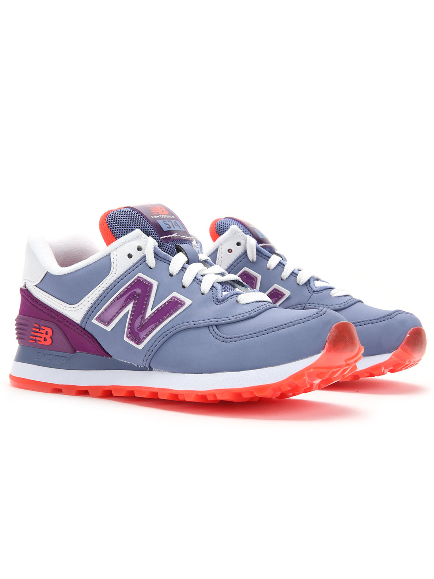 New Balance Women's 574 Glacial Running Shoes WL574SLX Lavender Berry White by