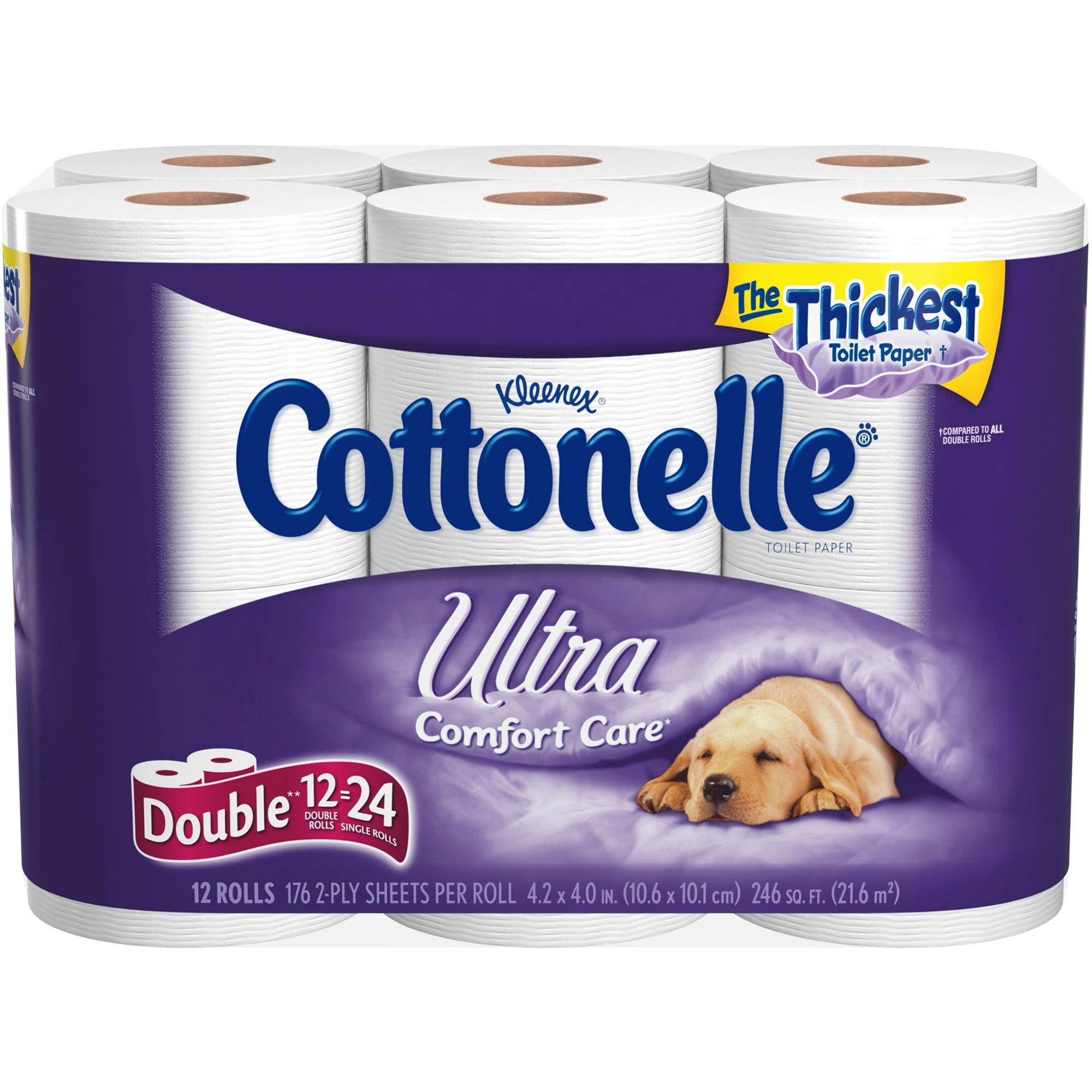 Kleenex Cottonelle Ultra Toilet Paper, 12 Pack