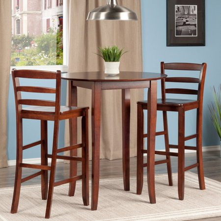 Fiona 3-Pc High Round Table with Ladder Back Stool ()