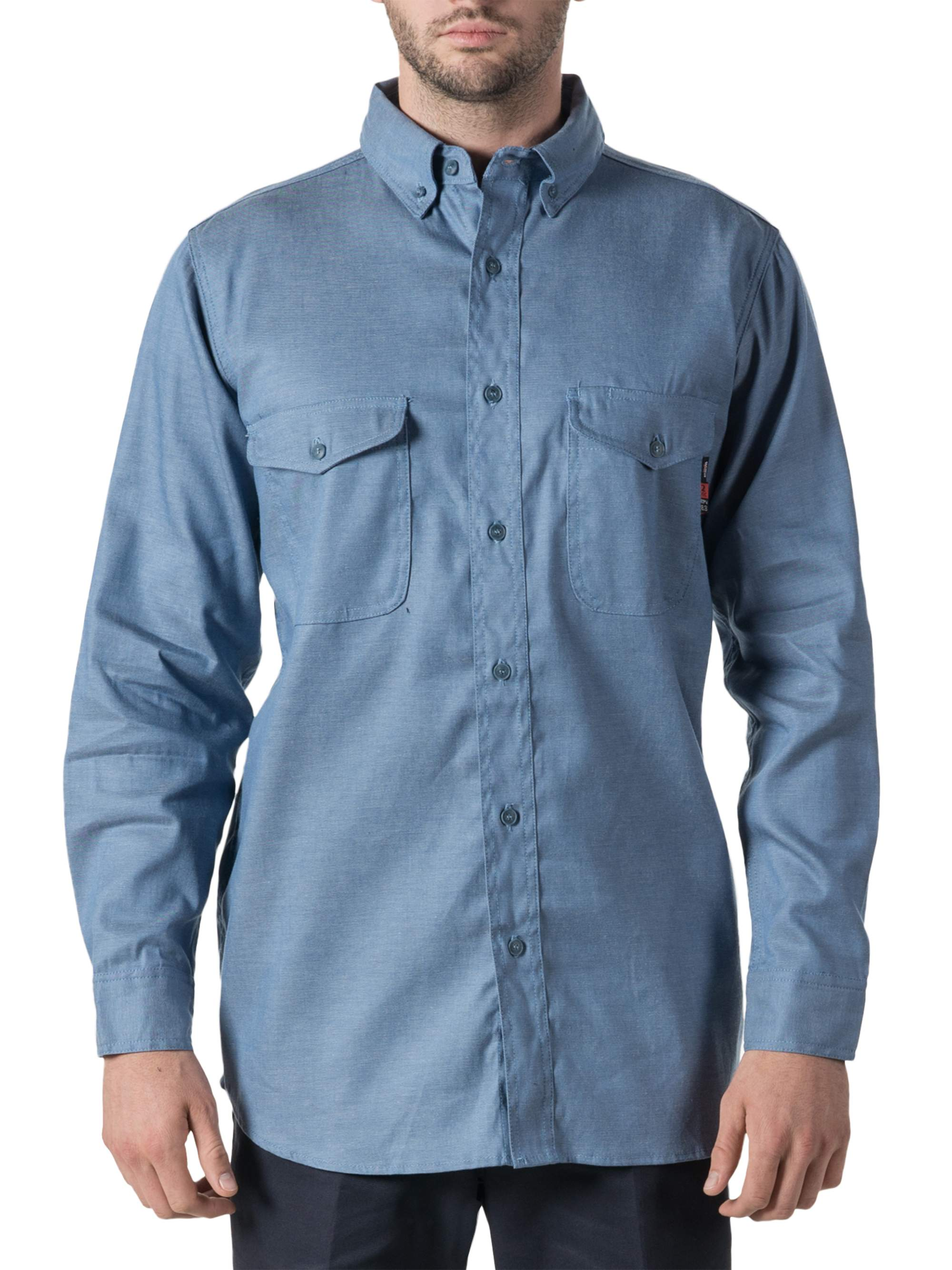 Men's Flame Resistant Woven Chambray Shirt, HRC Level 2