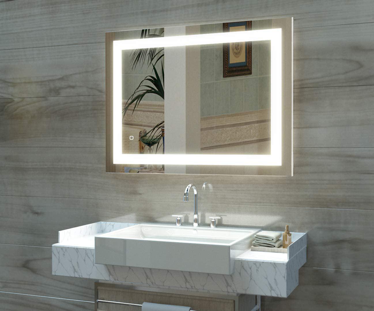 Ktaxon 32 X 24 Led Lighted Bathroom Wall Mounted Mirror Vanity Or Bathroom Wall Hanging Rectangle Vertical Mirror Anti Fog Ip67 Waterproof Walmart Com Walmart Com