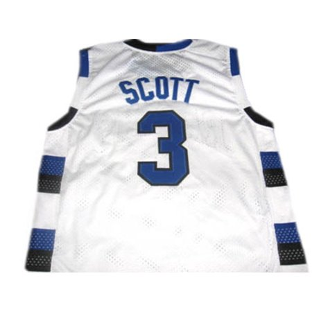 Lucas Scott 3 One Tree Hill Series Ravens White Basketball Jersey Adult (Nathan Scott One Tree Hill)