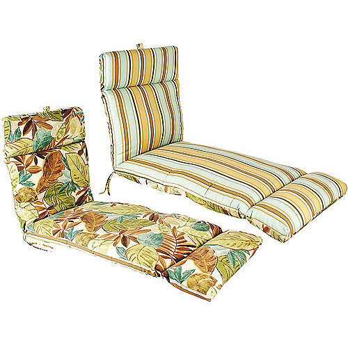 Jordan Manufacturing Reversible Outdoor Patio French Edge Chaise Cushion