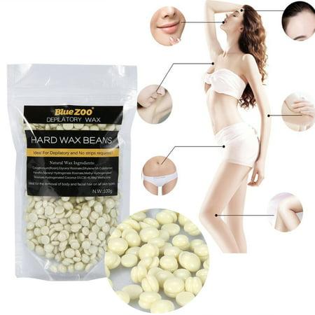 Dilwe Hard Wax Beans Hard Body Wax Beans, Hair Removal Brazilian Pearl Depilatory Wax European Beads for Women Men,